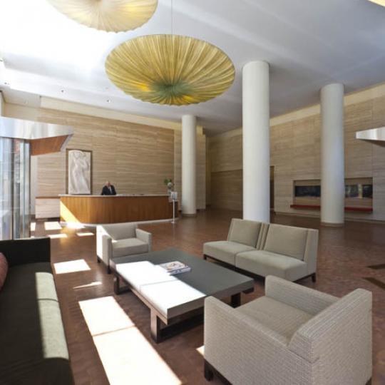 The Visionaire Lobby - Battery Park City NYC Condominiums