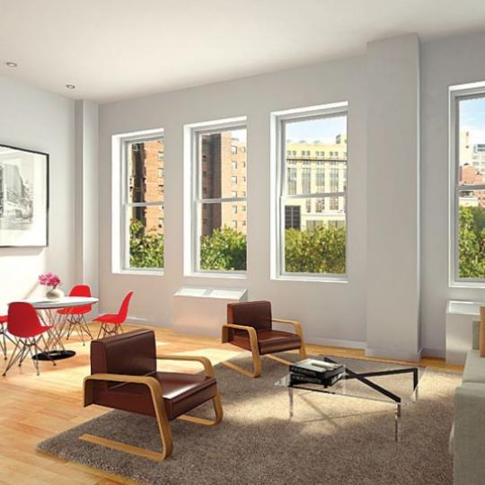 420 West 25th Street Living Room - Manhattan New Condos