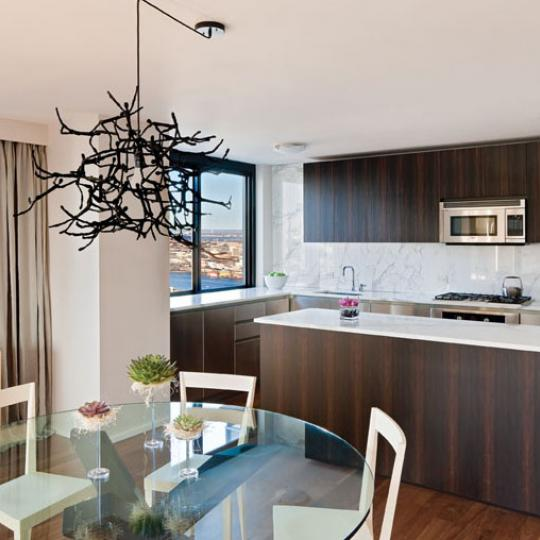Miraval Living Tower Kitchen Area - New Condos for Sale NYC