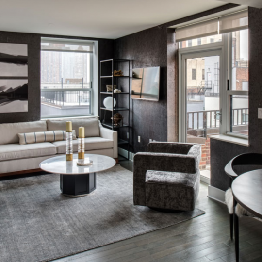 Living room at 416 West 52nd Street in NYC - Condos for sale