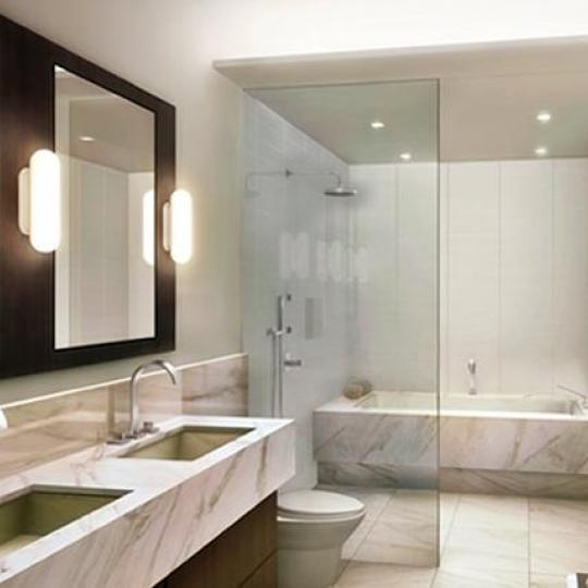 122 Greenwich Avenue NYC Condos - Bathroom at One Jackson Square