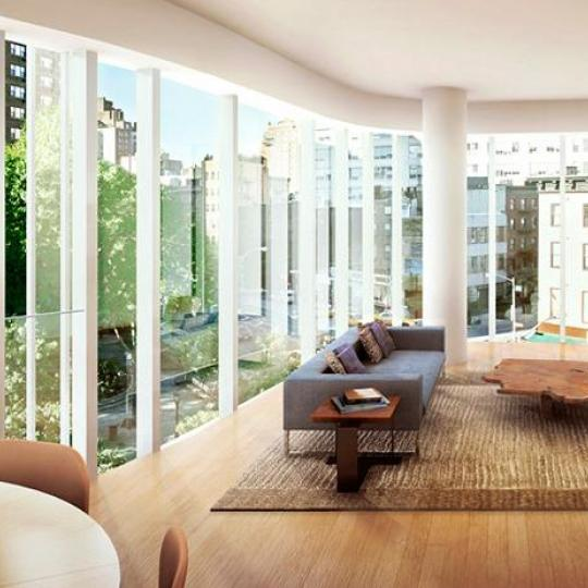 One Jackson Square Living Room - Condominiums for Sale NYC