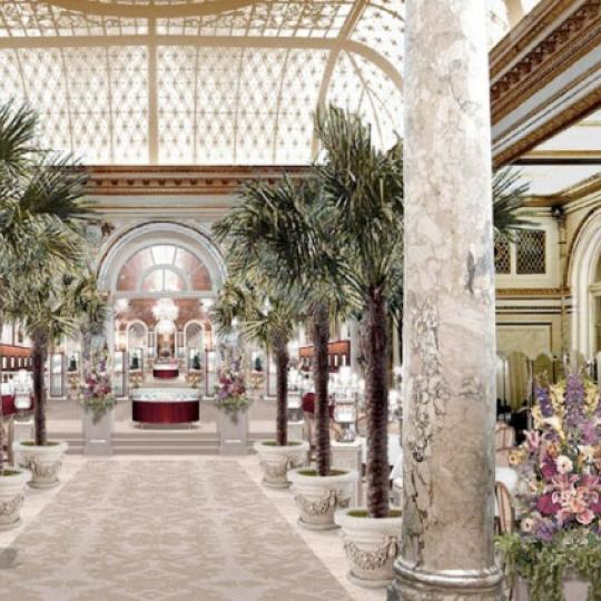 The Plaza Residences Condominium Building Palm Court - NYC Condos