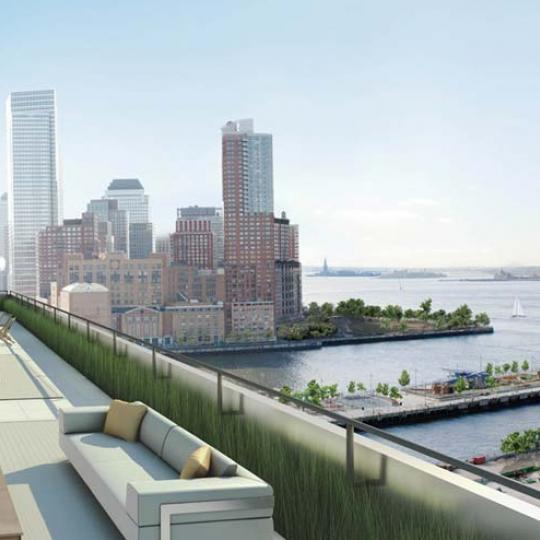 250 West Street Rooftop Deck Lounge - Tribeca NYC Condominiums