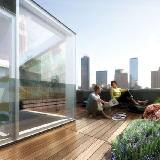 425 West 53rd St Rooftop Deck Lounge - Manhattan  New Condos