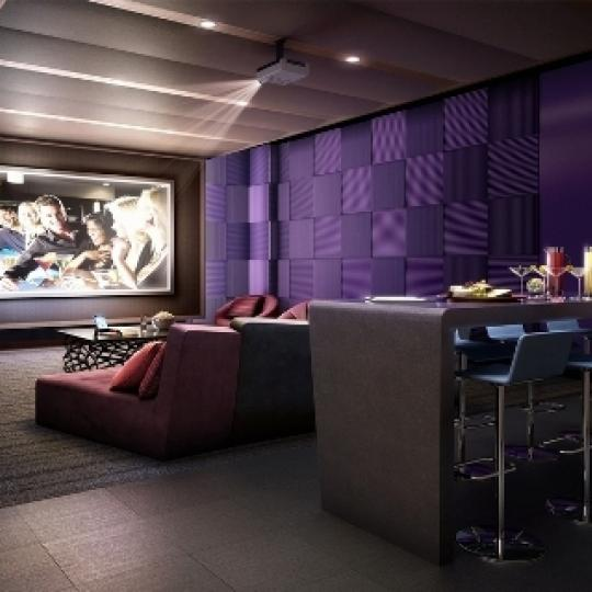Manhattan View Screening Room - 460 West 42nd Street Condos for Sale