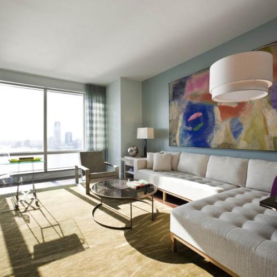 The Visionaire Sitting Area - New Condos for Sale NYC
