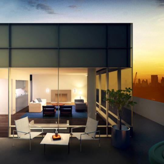 Soho Mews Balcony - Condominiums for Sale NYC