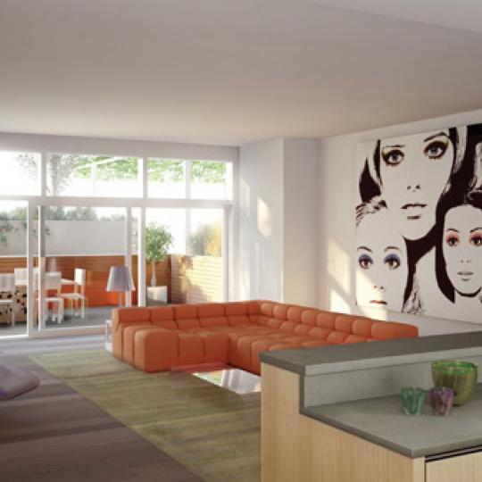 Soho Mews New Construction Building Living room - NYC Condos