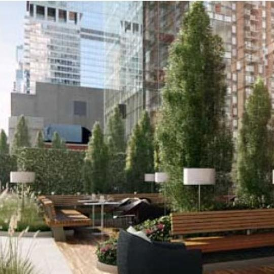 Manhattan View New Construction Building Terrace - NYC Condos