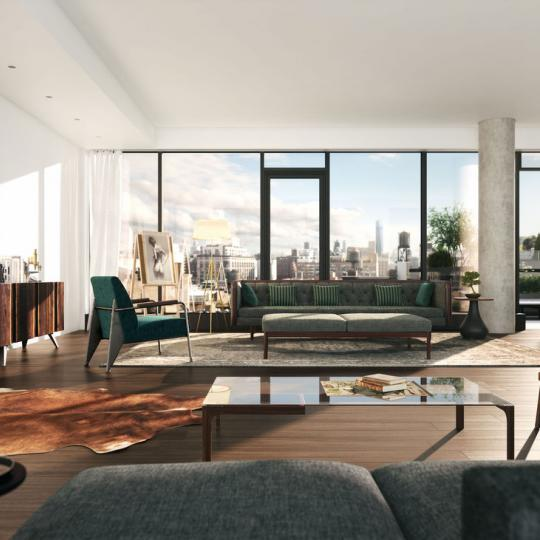 Livingroom at The Flynn in Manhattan - Apartments for sale