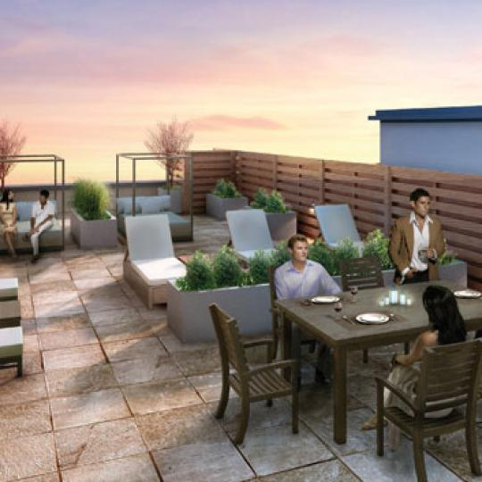 505 West 47th Street Rooftop Deck Lounge - Manhattan New Condos