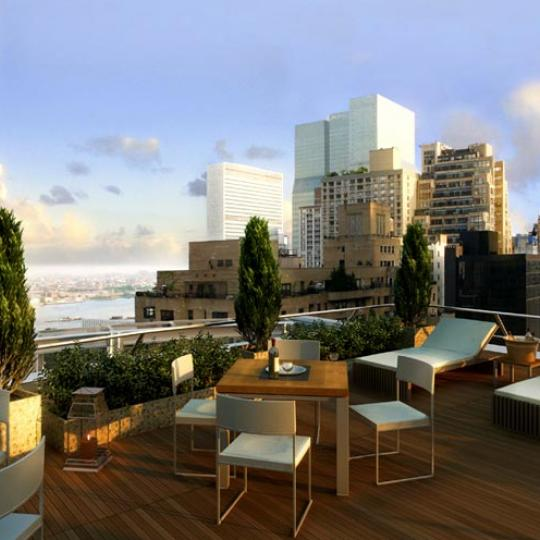 250 East 49th Street Balcony - NYC Condos for Sale