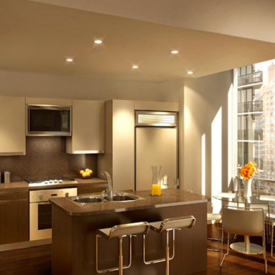 250 East 49th Street New Construction Condominium Kitchen Area