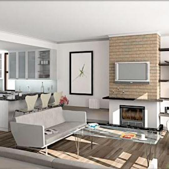 The Columbia House Living Room - Manhattan Condos for Sale