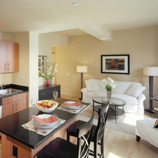 20 West Street Living Room – Manhattan New Condos