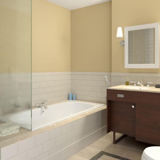 The Gansevoort New Construction Building Bathroom - NYC Condos