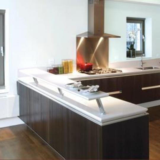 The Harsen House New Construction Building Kitchen - NYC Condos