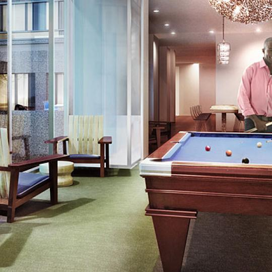 The Riverhouse Billiard Room Battery Park City - Manhattan New Condos for Sale