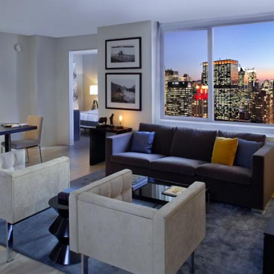 The Sheffield Living Room - 322 West 57th Street NYC Condos for Sale