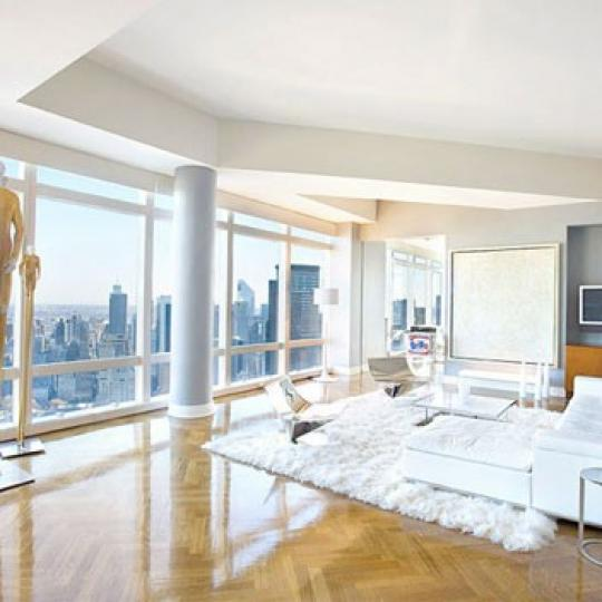 25 Colombus Circle Living Room - NYC Condos for Sale
