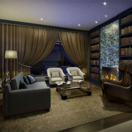 The Touraine - 165 East 65th Street - Library - Manhattan Condos for Sale