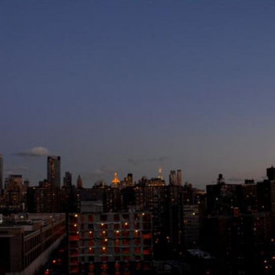 540 West 28th Street Night View - NYC Condos for Sale
