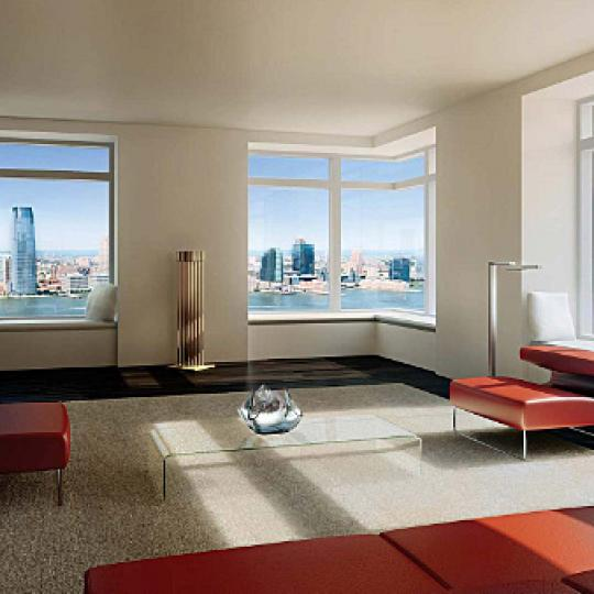 W New York Downtown Living Room - Manhattan Condos for Sale