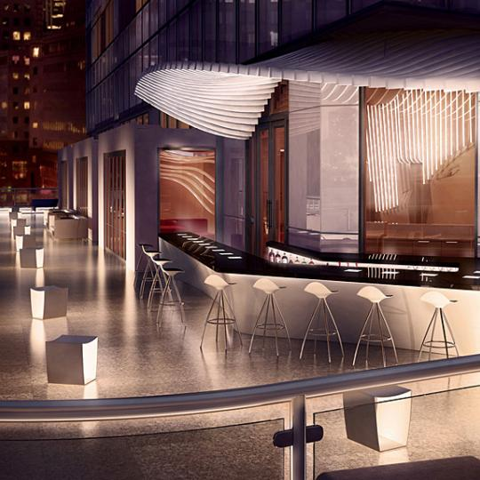 W New York Downtown Condominiums - Rooftop Bar