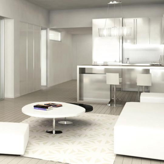 The Cammeyer New Construction Building Living Room - NYC Condos