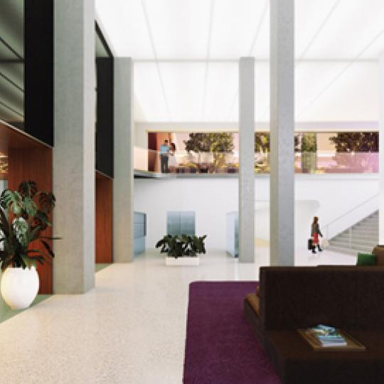 The Building's lobby at Austin Nichols House in Brooklyn