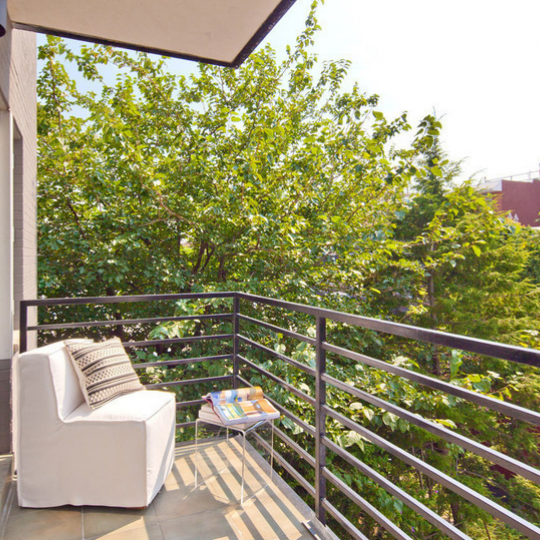 Balcony 48 Box Street - NYC Condos for Sale
