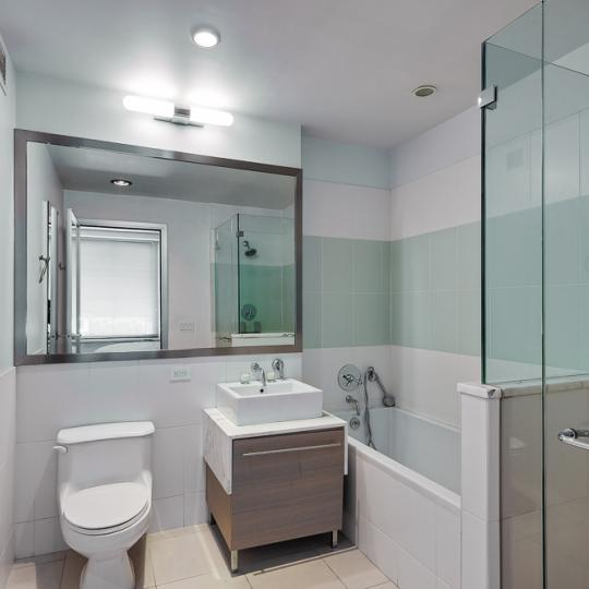 Bathroom at 100 West 39th Street