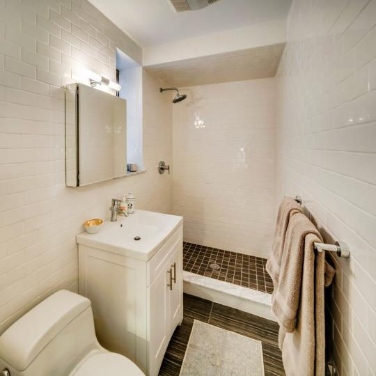 Bathroom with Shower- The Strathmore