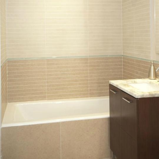 The Powerhouse Bathroom - LIC Condominiums for Sale