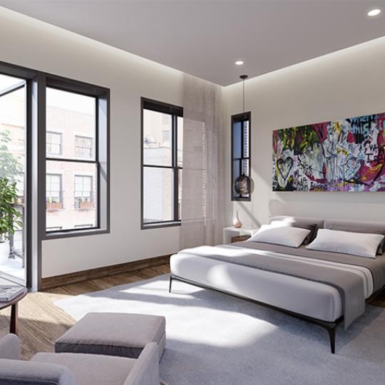 Bedroom- 15 Leonard Street- condo for sale in Manhattan