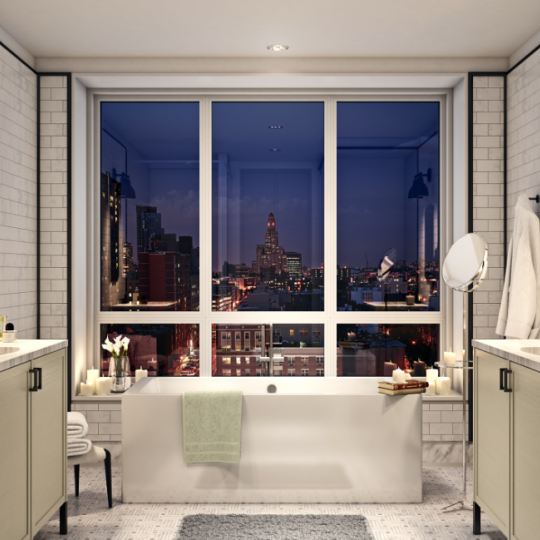 Boerum - Bathroom with amazing view
