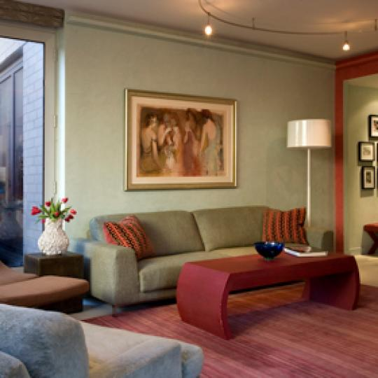 Bridge Tower Place - living area - Condos for Sale NYC