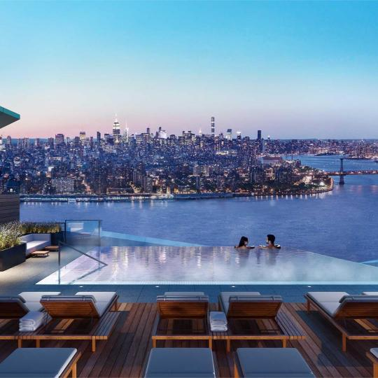 Rooftop Terrace at Brooklyn Point in NYC - Apartments for sale