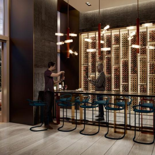 Wine Room at Brooklyn Point in NYC - Apartments for sale