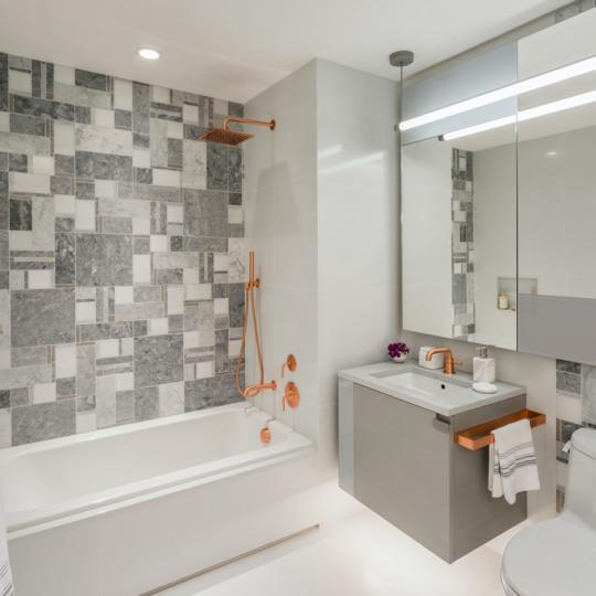 Bathroom at Brooklyn Point in NYC - Apartments for sale