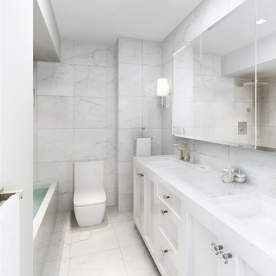 Renovated Master Bathroom - 330 East 38th Street Condominiums - Condos - NYC