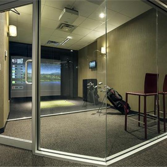 Golf Simulator - 330 East 38th Street Condominiums - Condos - NYC