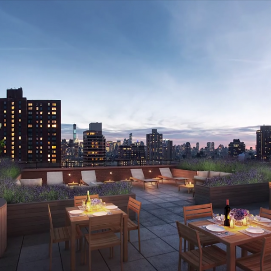 Amazing view from 200 East 94th Street's rooftop deck
