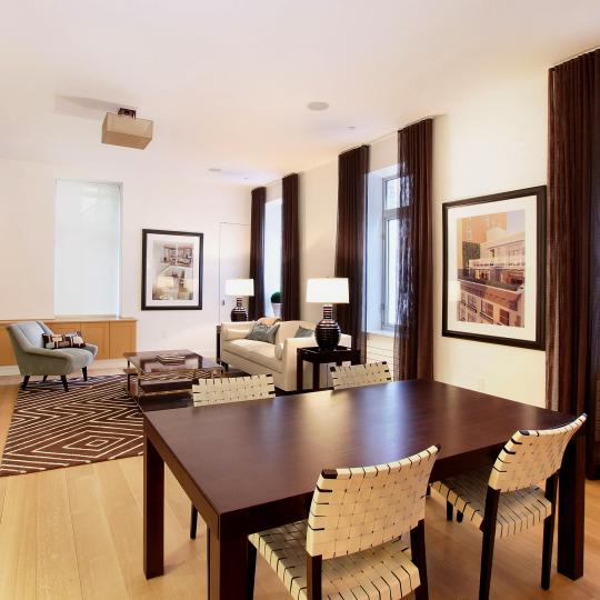 Carriage House New Construction Building Dining Area – NYC Condos
