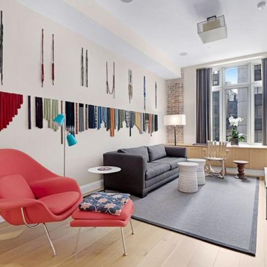 Carriage House Living Room - Chelsea NYC Condominiums