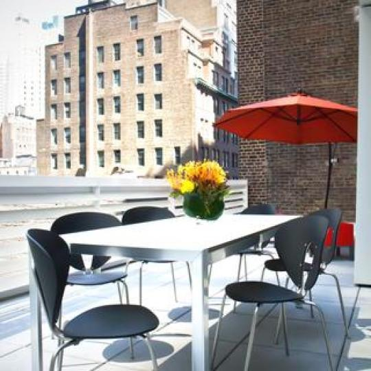 Cassa NYC terrace - Clinton NYC Condominiums