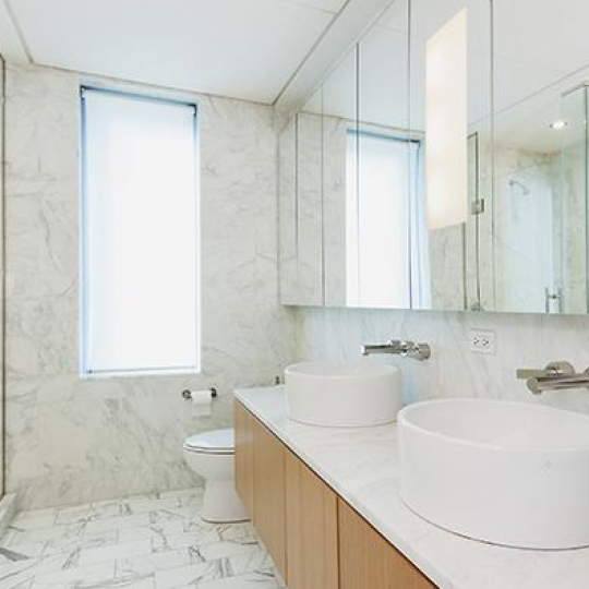 Bathroom at 18 West 48th Street