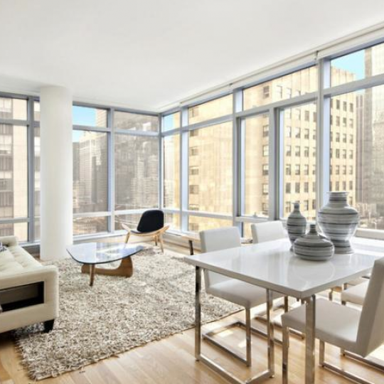 Living Room at 18 West 48th Street