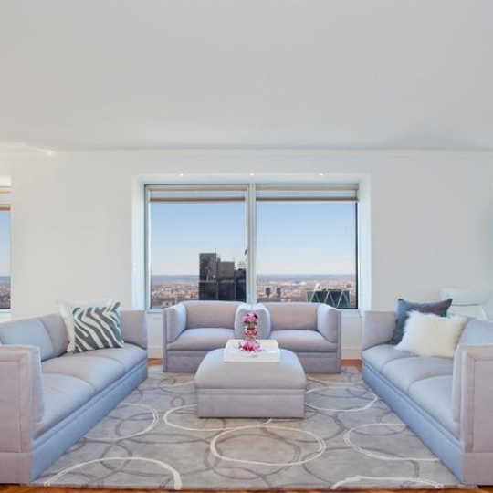 City Spire Livingroom - Midtown West Apartments for Sale